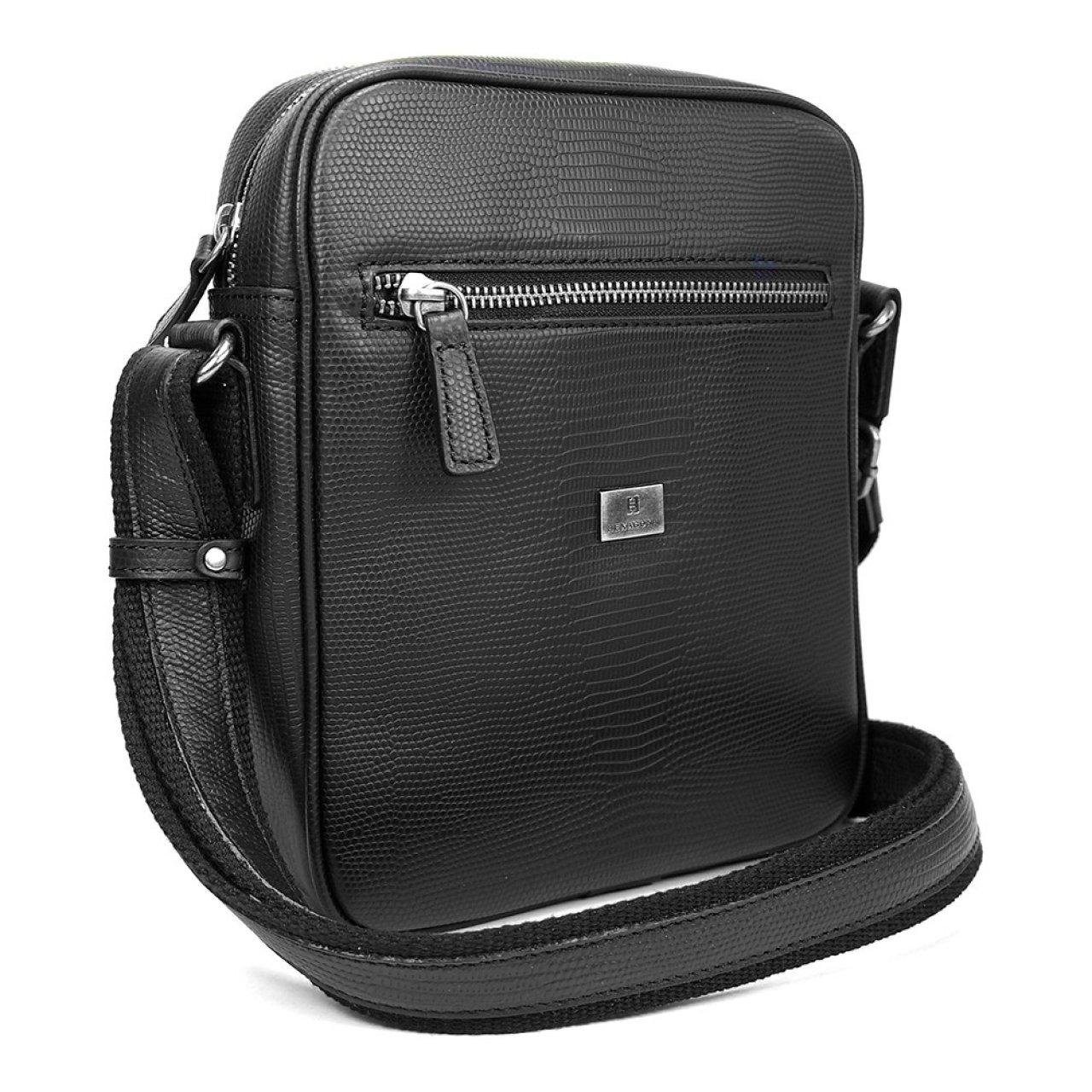 1fed73a512 Pánská kožená taška přes rameno Hexagona 854017 - černá