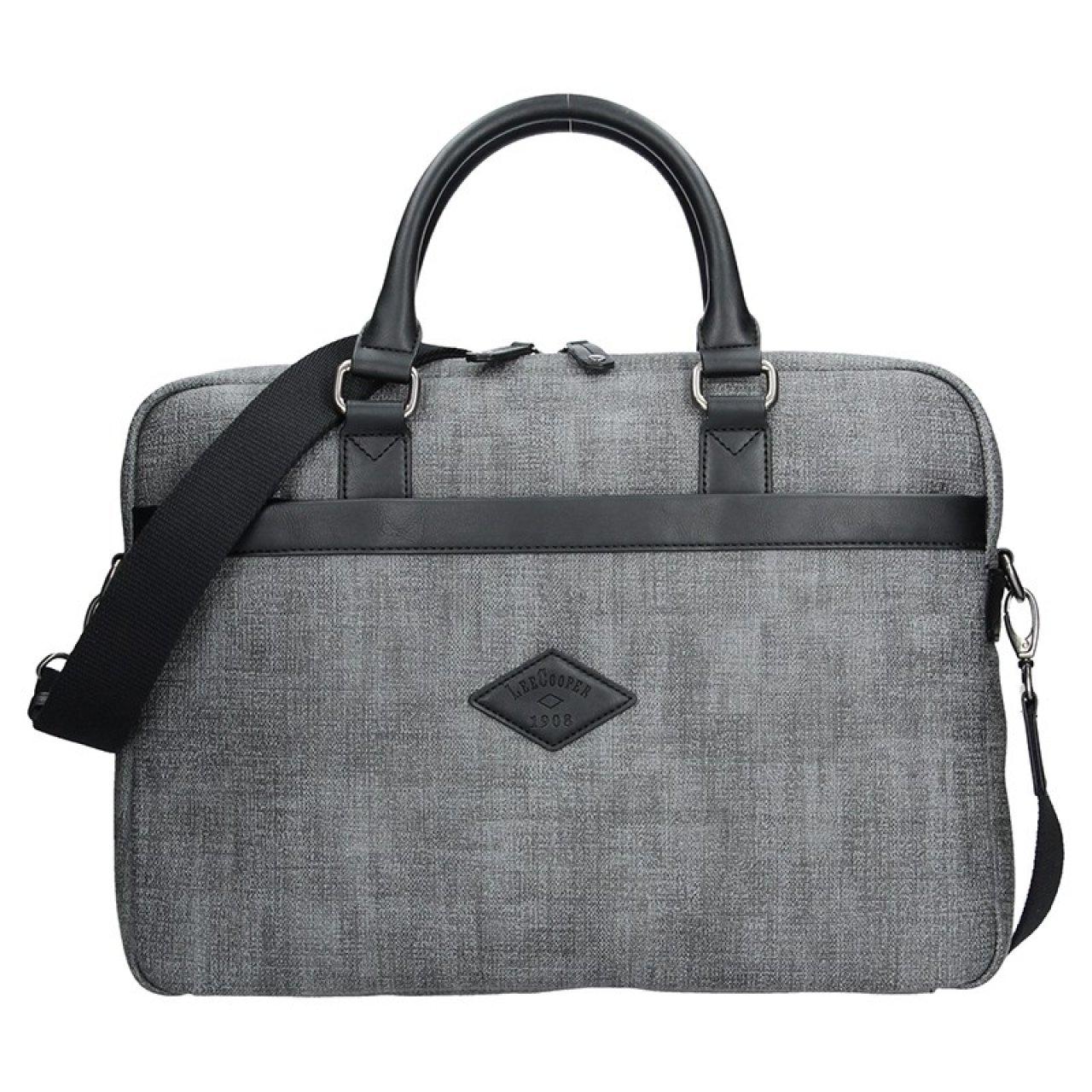Panská pracovní taška Lee Cooper Albert - šedá  dbfe9c0ba1
