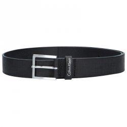 Černý kožený pánský opasek Calvin Klein Edmond- 115 cm