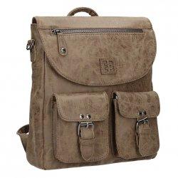 Dámská batůžko kabelka Enrico Benetti 66100 - hnědá