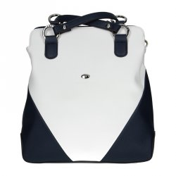 Dámská batůžko-kabelka Hexagona 643731 bílo-modrá