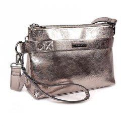 Dámská crossbody kabelka Doca 12773 - stříbrná