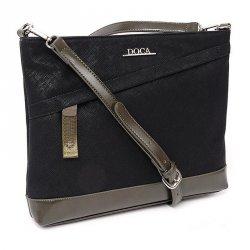 Dámská crossbody kabelka Doca 12825 - černá