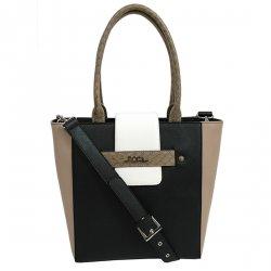 Dámská trendy kabelka Ju'sto J-High - bílo-černá
