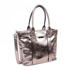 Dámská kabelka Doca 12769 - stříbrná