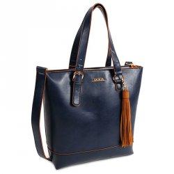 Dámská kabelka Doca 13372 - modrá