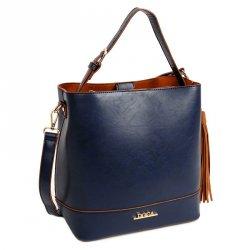 Dámská kabelka Doca 13375 - modrá