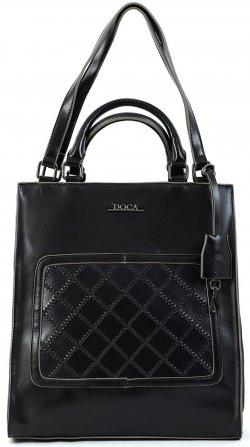Dámská kabelka Doca 15249 - černá