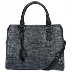 Dámská kabelka Hexagona 314614 - stříbrno-černá