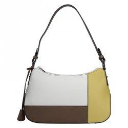 Dámská kabelka Hexagona 505236 - bílo-žlutá
