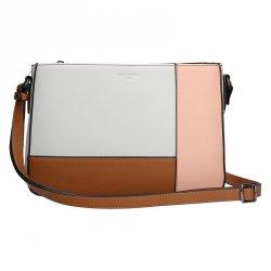 Dámská kabelka Hexagona 505238 - bílo-růžová
