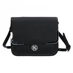 Pánská kožená taška přes rameno Hexagona Moon - černá