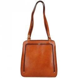 Dámská kožená batůžko kabelka Katana Viola - hnědá