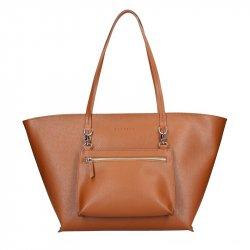 Dámská kožená kabelka Facebag 2v1 - hnědá