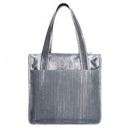 Dámská kožená kabelka Facebag Elma - stříbrná
