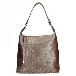 Dámská kožená kabelka Facebag Fionna - bronzová