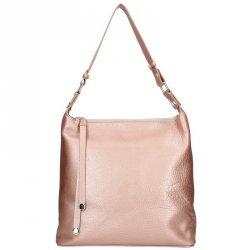 Dámská kožená kabelka Facebag Fionna - růžová