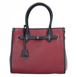 Dámská kožená kabelka Hexagona 465511 - vínová