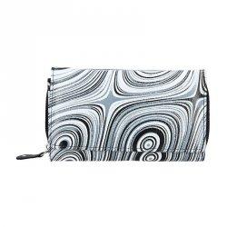 Dámská kožená peněženka DD Anekta Alice - černo-bílá