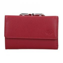 Dámská kožená peněženka DD Anekta Edita - červená