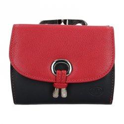 Dámská kožená peněženka DD Anekta Ingrid - černo-červená