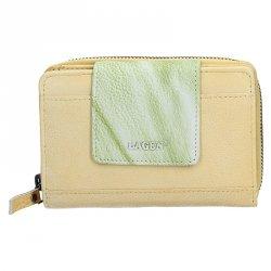 Dámská kožená peněženka Lagen Agáta - žluto-zelená