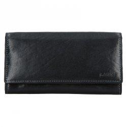 Dámská kožená peněženka Lagen Ebony - černá