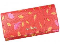 Dámská kožená peněženka Pierre Cardin Plant - červená