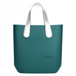 Dámská trendy kabelka Ju'sto J-Half Emma - zeleno-stříbrná