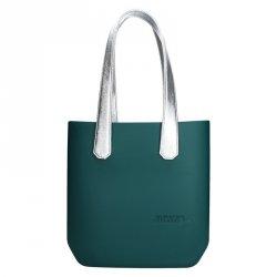 Dámská trendy kabelka Ju'sto J-Half long Emma - zeleno-stříbrná