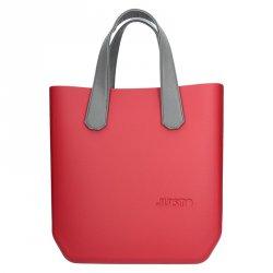 Dámská trendy kabelka Ju'sto J-Half Sabrina - červeno-šedá