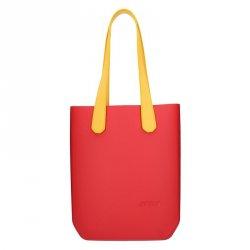 Dámská trendy kabelka Ju'sto J-High - červeno-žlutá