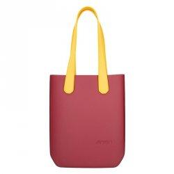 Dámská trendy kabelka Ju'sto J-High - vínovo-žlutá
