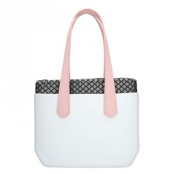 Dámská trendy kabelka Ju'sto J-Wide Dora - bílo-růžová