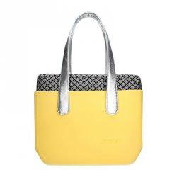 Dámská trendy kabelka Ju'sto J-Wide Dora - žluto-stříbrná