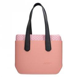 Dámská trendy kabelka Ju'sto J-Wide Ela - růžovo-černá