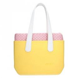 Dámská trendy kabelka Ju sto J-Wide Ela - žluto-bílá b44942f19ea