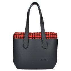 Dámská trendy kabelka Ju'sto J-Wide Lucy - černo-červená