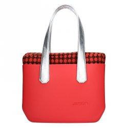 Dámská trendy kabelka Ju'sto J-Wide Nora - červeno-stříbrná
