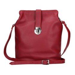 Dámské kožené crossbody Facebag Brenda - tmavě červená