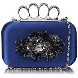 Dámské psaníčko LS Fashion Crystal- modrá