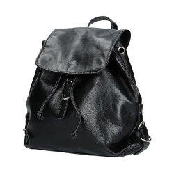 Dámský kožený batoh 82896 - černá