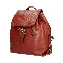 Dámský kožený batoh 82896 - hnědá