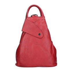 Dámský kožený batoh Hexagona 414775 - červená