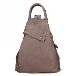 Dámský kožený batoh Hexagona 414775 - taupe