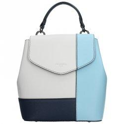 Dámský trendy batoh Hexagona 505241 - bílo-modrá