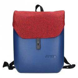 Dámský trendy batoh Ju'sto J-Back - modro-červená