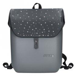 Dámský trendy batoh Ju'sto J-Back - šedo-černá-kůže