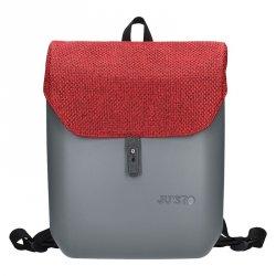 Dámský trendy batoh Ju'sto J-Back - šedo-červená