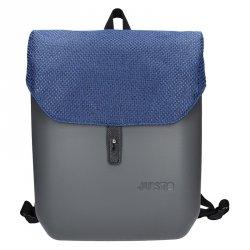 Dámský trendy batoh Ju'sto J-Back - šedo-modrá